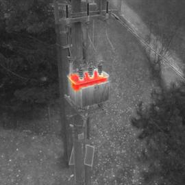 Msx snímok termovíziou trafostanice