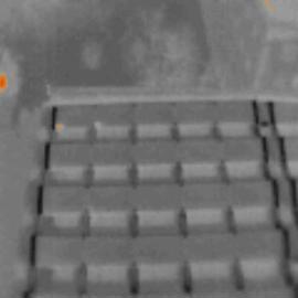 Termovízny snímok solárnych panelov